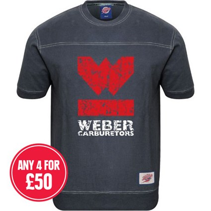 Retro Legends Weber T-sweat in blue