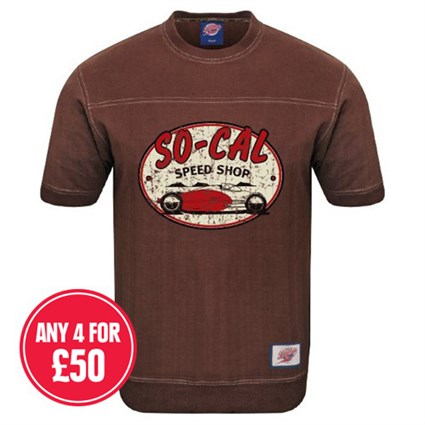 Retro Legends So Cal Speed T-sweat in brown