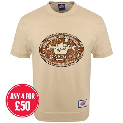 Retro Legends Garage T-sweat in cream