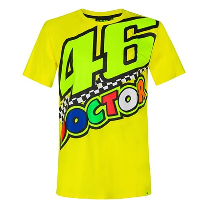 Valentino Rossi VR46 2020 The Doctor 46 T-shirt in yellow
