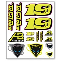 Alvaro Bautista Large Sticker Set