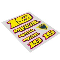 Alvaro Bautista small sticker set