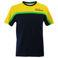 Senna Racing T Shirt Navy/Yellow