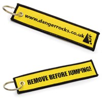 Danger Rocks Fabric keychain