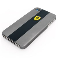 Ferrari iPhone 4 Scudetto cover grey/black