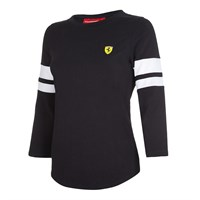 Ferrari Ladies Race 3/4 T-Shirt Black