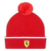 Ferrari Kids Bobble Beanie HAT Red