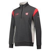 Haas 2017 Half Zip Sweatshirt Grey