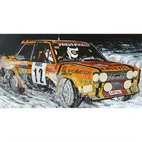 Minichamps Fiat 131 Abarth - 1980 Monte Carlo Rally - #12 M. Mouton 1:18