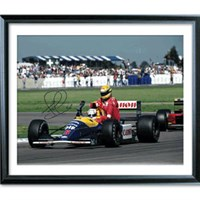 Signed 'Taxi For Senna' photo