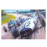Signed Grand Prix The Movie print signed by James Garner