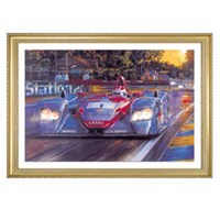 Signed Audi at Le Mans print