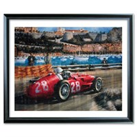 Victory for Moss at Monaco print signed