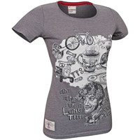 Red Torpedo Guy Martin Good Times ladies Graphite T-shirt