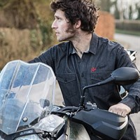 Red Torpedo Guy Martin Indian Garage Shirt in black