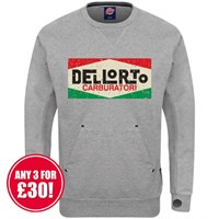 Retro Legends Dellorto sweatshirt in grey