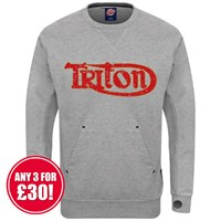 Retro Legends Triton sweatshirt in grey