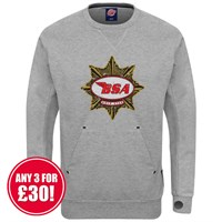 Retro Legends BSA Gold Star sweatshirt in grey