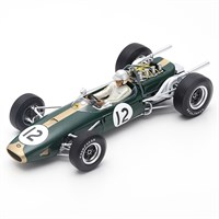 Spark Brabham BT19 - 1st 1966 French Grand Prix - #12 J. Brabham 1:18