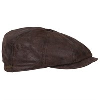 Stetson Hatteras Pig Leather Cap - Brown