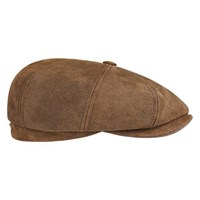 Stetson Hatteras Pig Leather Cap - Tan