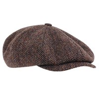 Stetson Hatteras Harris Tweed 8 Panel Cap