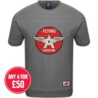 Retro Legends Flying A Gasoline T-sweat in grey