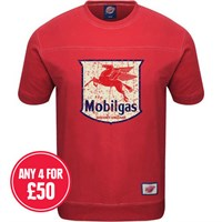 Retro Legends Mobilgas T-sweat in red