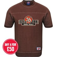 Retro Legends 76 Bonneville T-sweat in brown