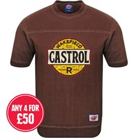 Retro Legends Wakefield Castrol T-sweat in brown