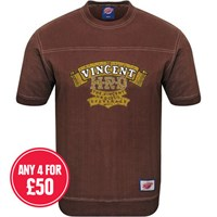 Retro Legends Classic Vincent HRD T-sweat in brown