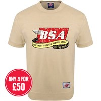 Retro Legends Classic BSA Most Popular T-sweat in cream
