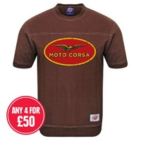 Retro Legends Classic Moto Corsa T-sweat in brown