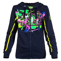Rossi Vr46 2016 Ladies 46 Paint Zip Fleece - Blue