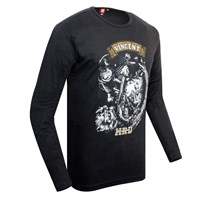 Vincent Engine Long-Sleeve T-Shirt Black