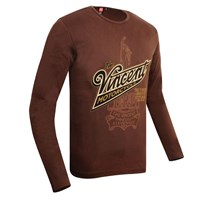 Vincent Motorcycle Long-Sleeve T-Shirt Mocha