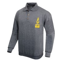 Vincent long sleeve polo in anthracite