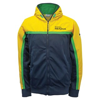 Senna Racing Zip hoodie Navy/Yellow 2XL