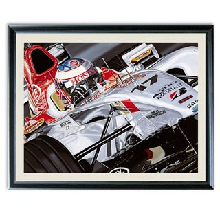 Jenson Button 'In the Running' print