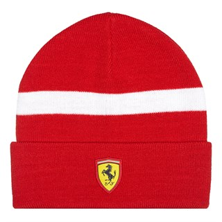 Ferrari Knitted Beanie HAT Red