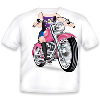 Little Tees Girls Biker T-shirt
