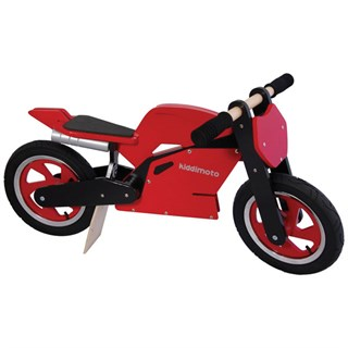 Kids Wooden Balance Superbike in red / black