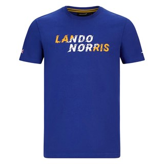 McLaren 2020 Lando Graphic  T-shirt in blue L