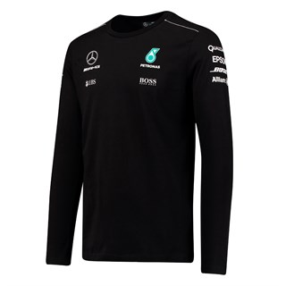 Mercedes AMG 2017 L/S T-Shirt Black Xxl