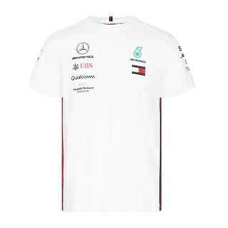 Mercedes-AMG Petronas Motorsport 2019 short sleeve driver T-shirt in white XL