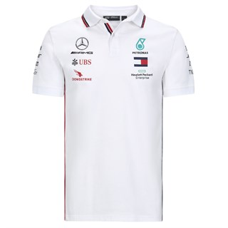 Mercedes-AMG Petronas Motorsport 2020 Team polo shirt in white M