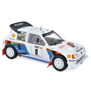 Norev Peugeot 205 T16 - 1986 Monte Carlo Rally - #8 B. Saby 1:18