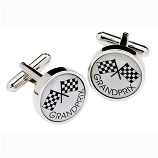 Grand Prix Flag Cufflinks