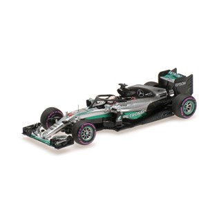 Minichamps Mercedes F1 W07 Halo Test - 2016 Singapore Grand Prix - #44 L. Hamilton 1:43