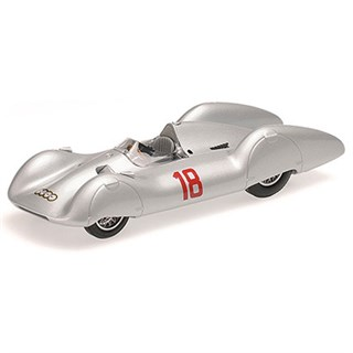 Minichamps Auto Union Type D Streamliner - 1935 French Grand Prix - #18 R. Hasse 1:43